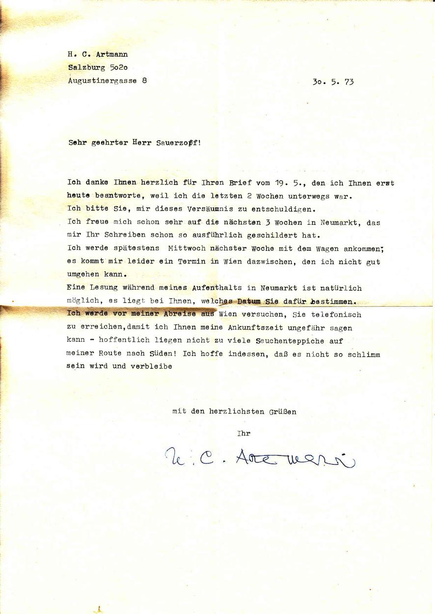 Brief-Artmann-1973-inkl-Kuvert_Seite_1