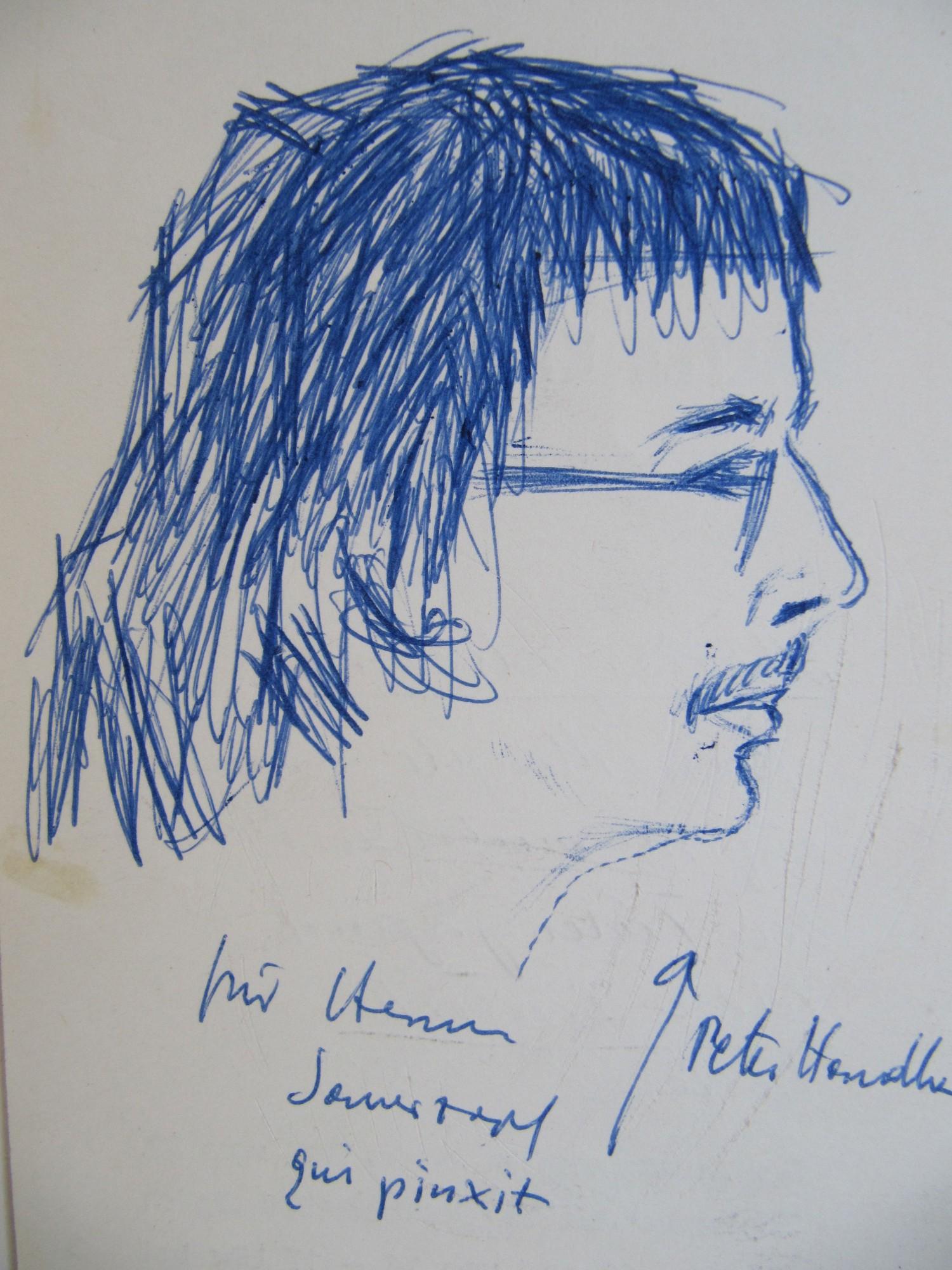 Portrait Handke signiert