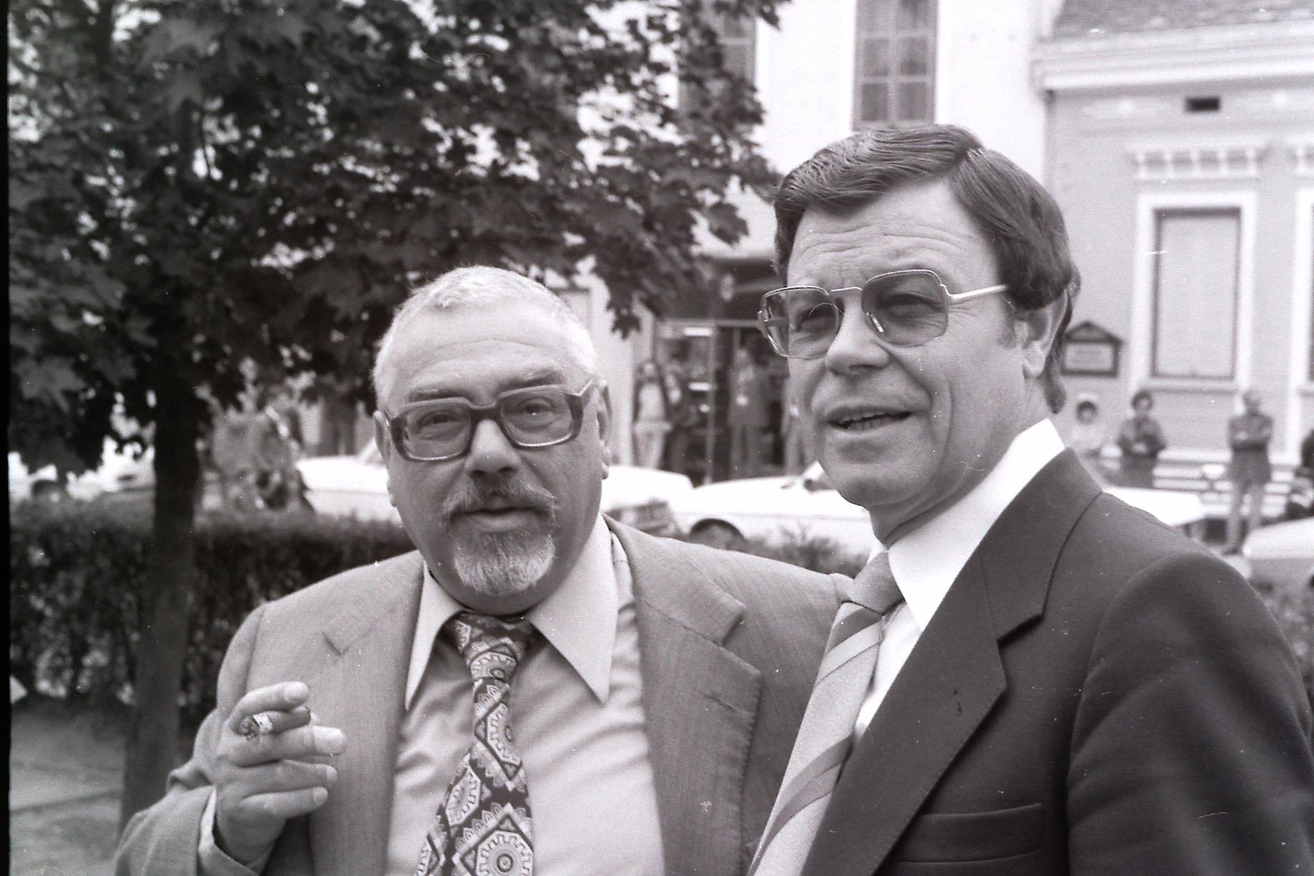 Hellmut Andics (mit Karl Hofer), 1977 in Jennersdorf (Foto: Eduard Sauerzopf)