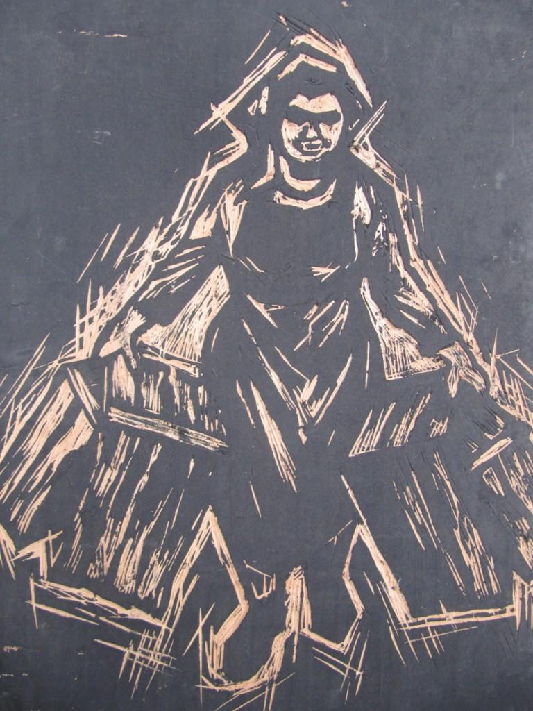 Holzschnitt_Marktfrau
